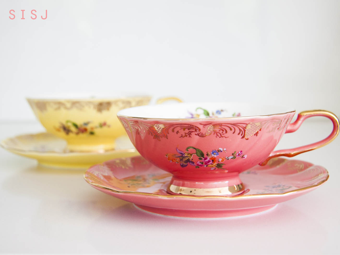 Its Tea Time She Is Sarah Jane Dilmah Rose With French Vanilla T2 Floral Cup And Saucer