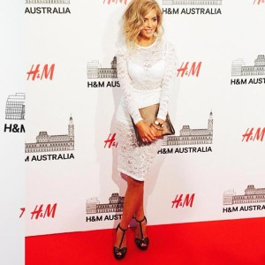 SHE IS SARAH JANE - RED CARPET FOR H&M LAUNCH