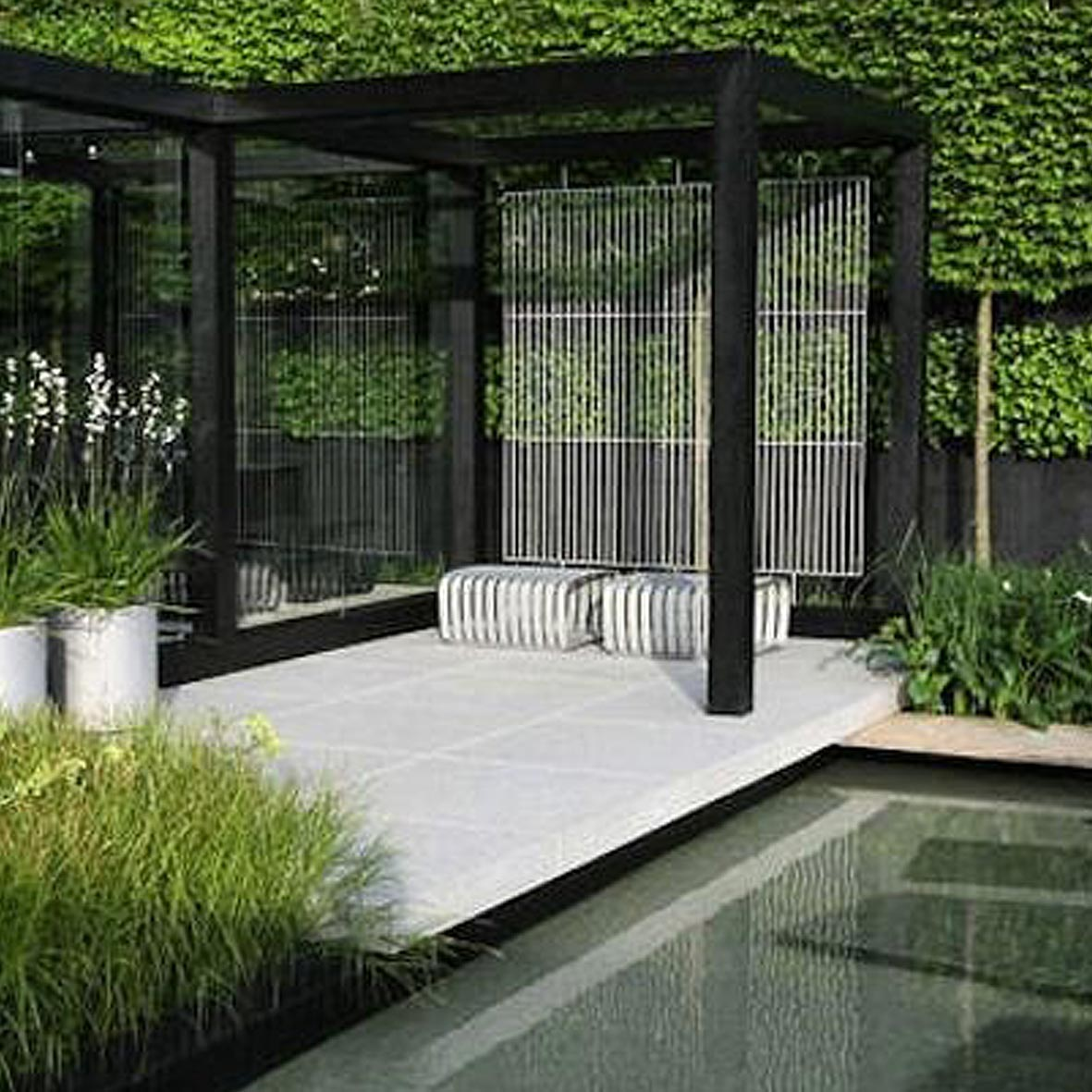 Sisj lifestyle modern garden design she is sarah jane for Modern garden design