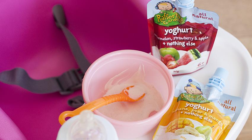 Rafferty's Garden, baby youghurt, mummy blogger, sarah jane young, no nasties, baby food, baby weaning, solids, australian made,